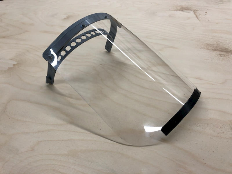 Face shield preview